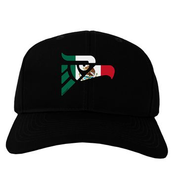 Hecho en Mexico Eagle Symbol - Mexican Flag Adult Dark Baseball Cap Hat by TooLoud