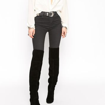 ASOS KICKSTER Suede Over the Knee Boots