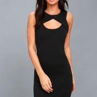 Zadie Black Sleeveless Bodycon Dress