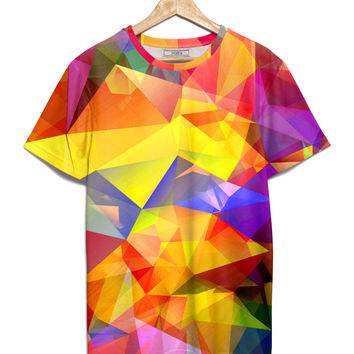 haroulita Mixed T-Shirt yellow polygons - JVGBD®
