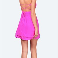 Jennifer Hope - Serena Bareback Sweetheart Dress - Pop Pink 