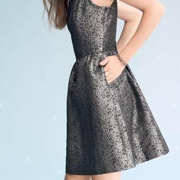 Frenchi Metallic Fit & Flare Dress