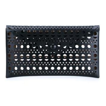 AZZEDINE ALAÏA   Laser Cut Leather Clutch   brownsfashion.com   The Finest Edit of Luxury Fashion   Clothes, Shoes, Bags and Accessories for Men & Women