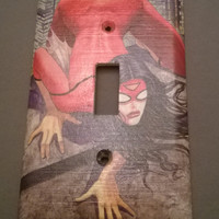 Comic Book superhero Spider Woman comic light switch cover