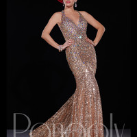 Fully Sequin Open Back Mermaid Prom Dress By Panoply 14686