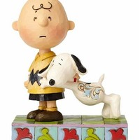 Peanuts by Jim Shore Snoopy with Charlie Brown - 4057676