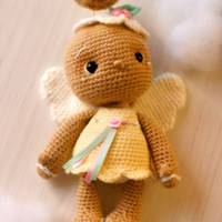 Elfin Thread- Vintage Gingerbread Angel Chookie Amigurumi PDF pattern (Gingerbread Crochet PDF Pattern)
