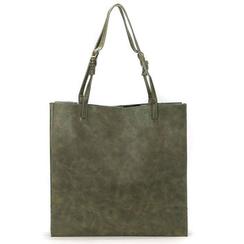 Structured Tote Bag In Green