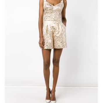 DOLCE & GABBANA   Floral Brocade Playsuit   brownsfashion.com   The Finest Edit of Luxury Fashion   Clothes, Shoes, Bags and Accessories for Men & Women