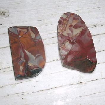 Mescalero Jasper, 2 natural and untreated pieces, lapidary, cabbing stones, wire wrapping rocks, semi preciious Jasper, preform cabuchons
