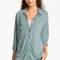 Frenchi® Two Pocket Top (Juniors) | Nordstrom
