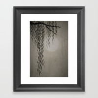 Willow in the moonlight Framed Art Print by Color and Color
