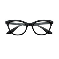 Womens Clear Lens Retro Cat Eye Wayfarer Glasses Frames W40
