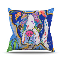 "Rebecca Fischer ""Addy Mae"" Pug Terrier Throw Pillow"