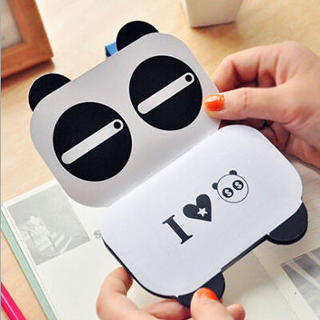 Korean Creative Stationery Notepad Office Supplies School Cartoon Panda Filofax Notebook Diary Students
