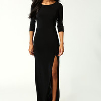 Candice Side Split Slinky Maxi Dress