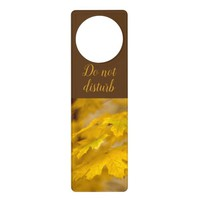 Yellow autumn maple leaves. Add you text or name. Door Hanger
