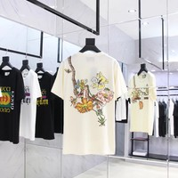 NEW 100% Authentic gucci 2018ss snake flower t shirt 017
