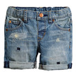 H&M - Denim Shorts - Light denim blue - Kids