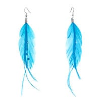Feather Crystal Dangle Knot Earrings | Pugster.com