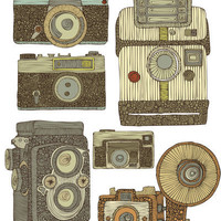 Take some pictures Art Print by Valentina Ramos
