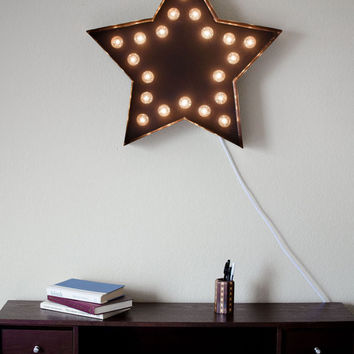Vintage Inspired Marquee Light- Star