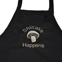 Funny  Apron with Shiitake Mushroom-Black Grilling Cooking