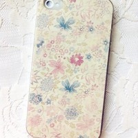 Fresh Small Floral Hard Cover Case For Iphone 4/4s/5