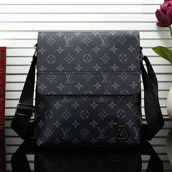 Louis Vuitton LV Men Fashion Leather Office Bag Crossbody Shoulder Bag Satchel