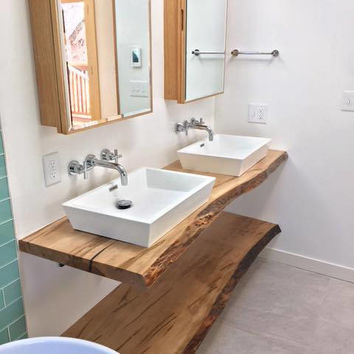 LIVE EDGE Bathroom Counter, Live Edge Bathroom Vanity, Wood Slab Counter, Wood Slabs, Live edge Shelf