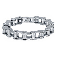 Stainless Steel Biker Bicycle Chain Polished Bracelet