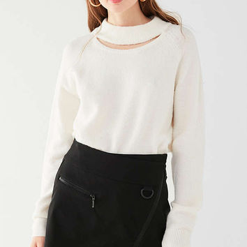 UO Cut-Out Crew Neck Sweater | Urban Outfitters