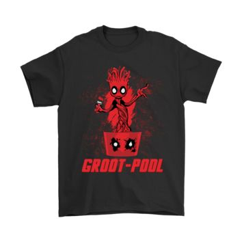 QIYIF Groot-Pool Deadpool Guardians Of The Galaxy Shirts