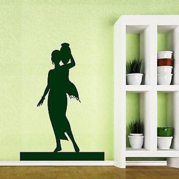 Wall Sticker Vinyl Decal Beautiful Harmonous Girl Shoulder Pitcher Unique Gift (n158)