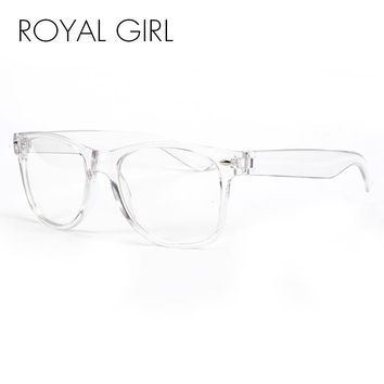 ROYAL GIRL New Fashion Eyeglasses Transparent Frame Glasses Cool Driving Spectacles  for Women SS023
