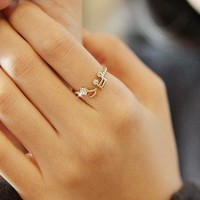 Lovely Musical Note Adjustable Ring from Fancywanelo