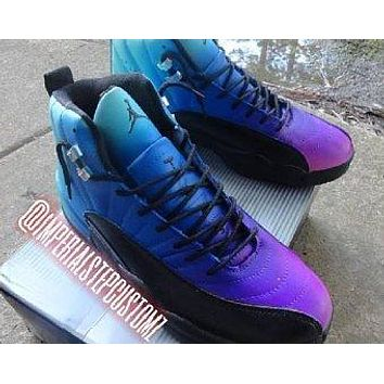 "Air Jordan 12 Retro ""French Blue fade to purple"