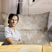 Jared Padalecki Supernatural The Movie on Rectangle Pillow Cover