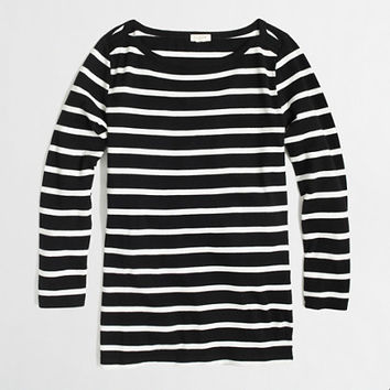 Factory three-quarter sleeve boatneck tee in stripe - long sleeve - FactoryWomen's Knits & Tees - J.Crew Factory