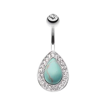 Avice Turquoise Multi-Gem Belly Button Ring Navel Ring Body Jewelry