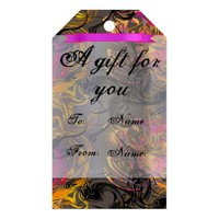 Abstract Colorful Smoke Pattern Gift Tags