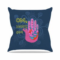 """Jane Smith """"Om, Sweet, Om"""" Pink Ethnic Throw Pillow"""