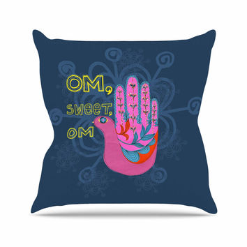 "Jane Smith ""Om, Sweet, Om"" Pink Ethnic Throw Pillow"