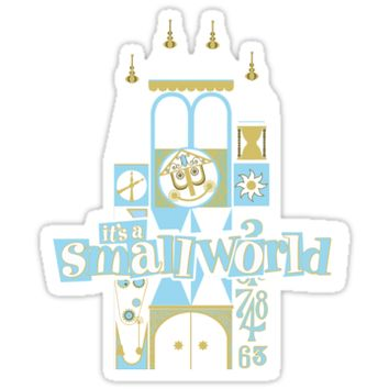 'it's a small world!' Sticker by Pop-Tacular