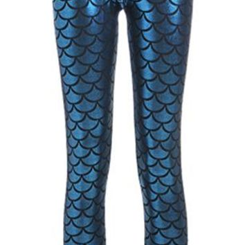 Mermaid women's Scale leggings S-XL size