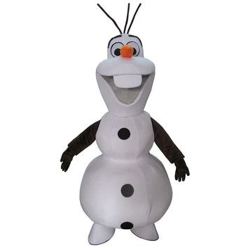 cosplay costumes Snowman Olaf Mascot Costume Adult size Olaf Mascot Costume Free Shipping