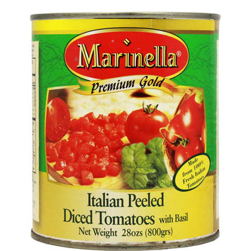 Italian Diced Tomatoes with Basil by Marinella 28 oz