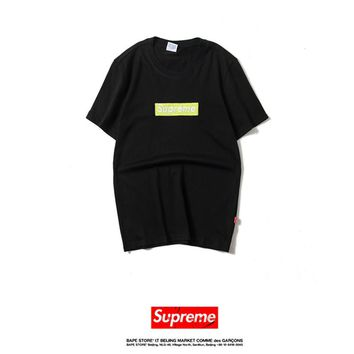 Cheap Women's and men's supreme t shirt for sale 85902898_0179