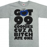 Dark Ash T-Shirt | Funny Cookie Monster Shirts
