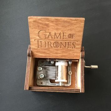 Wooden Music Box Potter Game of Thrones action figure toys Christmas birthday new year gift for children